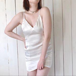 Silence + Noise O-Ring Empire Waist Slip Dress